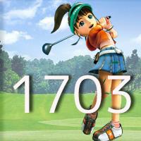女子ゴルフTVキャプの跡1703