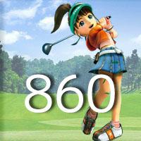 女子ゴルフTVキャプの跡860