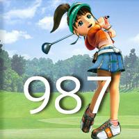 女子ゴルフTVキャプの跡987